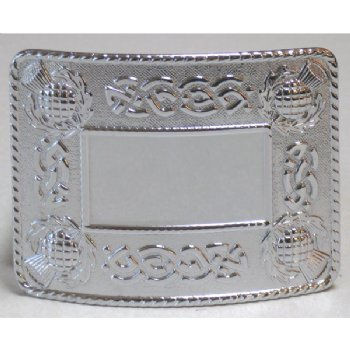 Thistle Celtic Chrome Buckle